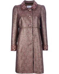 RED Valentino Metallic Embellished Coat