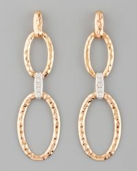Roberto Coin | Metallic Martellato Diamond Earrings | Lyst