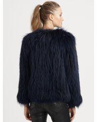 Sachin & Babi | Blue Isla Raccoon Fur Jacket | Lyst