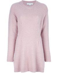 Stella McCartney - Pink Sweater Dress - Lyst