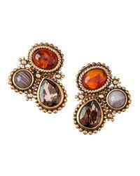 Stephen Dweck Multicolor Rock Crystal Trapezoidal Earrings