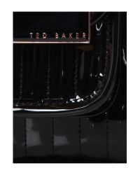 Ted Baker Black Willo Quilted Small Bowling Bag