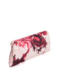 Ted Baker Pink Sunbery Floral Print Evening Clutch