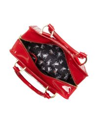 Ted Baker Red Willo Quilted Small Bowling Bag