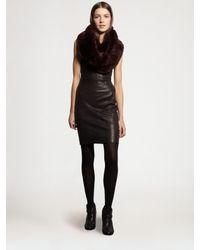 Theory | Black Feria Leather Dress | Lyst