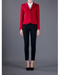 Theory Red Jacket Nillian Valleius Button Front