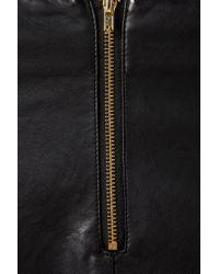 TOPSHOP Black Zip Detail Mini Skirt