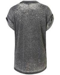 TOPSHOP Gray Oversized Burnout Tee