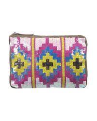 TOPSHOP Multicolor Aztec Sequin Clutch Bag