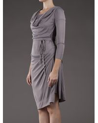 Vivienne Westwood Red Label Gray Long Sleeve Dress