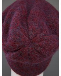 Acne Studios Purple Kim Mohair Hat