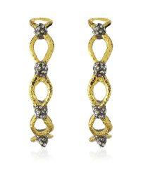 Alexis Bittar | Metallic Gold Spike Hoop Earring | Lyst