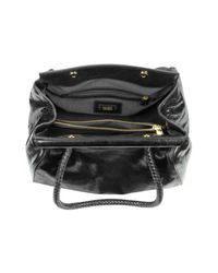 Badgley Mischka Azure Black Calfhair Shoulder Bag