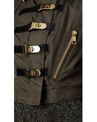 Burberry Natural Cotton Gabardine Bomber Jacket