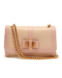 Christian Louboutin Pink Sweet Charity Grained Leather Shoulder Bag
