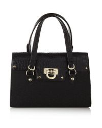 DKNY Black Town and Country Bowling Bag