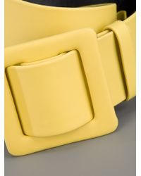 Lanvin Yellow Wide Band Belt