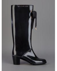 Marc By Marc Jacobs Black Wellington Boot