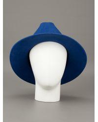 MM6 by Maison Martin Margiela Blue Round Hat