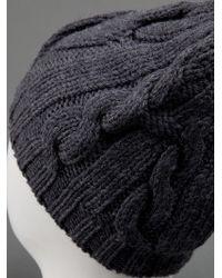 Moncler Gray Knit Bonnet Hat
