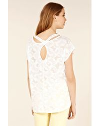 Oasis White Butterfly Burnout Oversize Tee