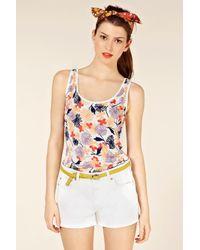 Oasis White Daisy Floral Vest