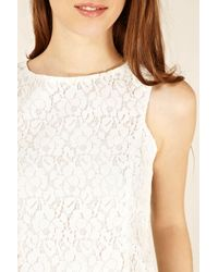 Oasis White Lace Shell Top