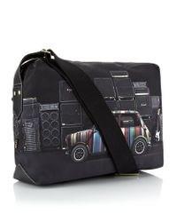Paul Smith Black Mini with Speakers Flight Bag for men