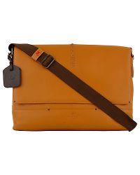 Radley Orange Radley Banbury Leather Messenger Bag Tan