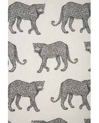 TOPSHOP White Longsleeve Cheetah Print Shirt