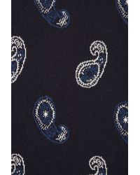 TOPSHOP Blue Knitted Paisley Jacquard Skirt