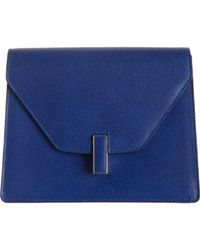 Valextra Blue Isis Tracollina Shoulder Bag
