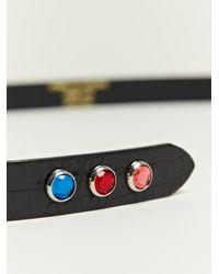 Comme des Garçons Black Kip Embossed Leather Belt for men
