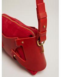 Fleet Ilya Red Fleet Ilya Womens Triangle Piece Bag