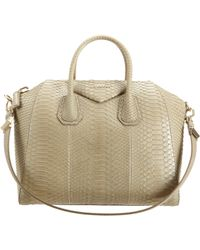 Givenchy Natural Medium Antigona Python Bag