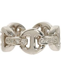 Hoorsenbuhs | Metallic White Gold Diamond Large Dame Trilink Icy Bridge Ring | Lyst
