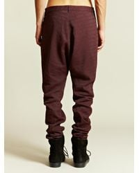 Individual Sentiments Red Individual Sentiments Mens Woven Low Crotch Pants for men