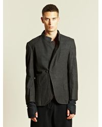 Individual Sentiments Gray Individual Sentiments Mens Woven Jacket for men