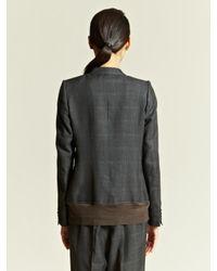 Kolor Gray Kolor Womens Check Blazer