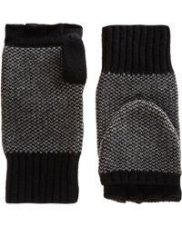 Rag & Bone Black Fingerless Gloves for men