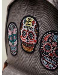 Sasquatchfabrix Gray Sasquatchfabrix Eototo Mens Skull Back Pack for men