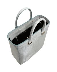 The Row Metallic Python Day Luxe Tall Tote