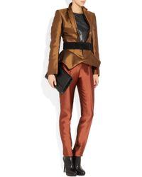 Haider Ackermann | Brown Wool and Silkblend Peplum Jacket | Lyst