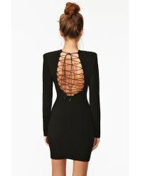 nasty gal network dress in black  lyst