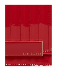 Ted Baker Red Inga Quilted Clutch