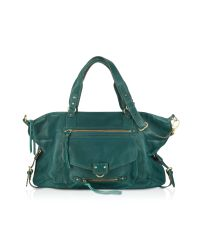 Abaco Green Odelia Java Large Leather Tote