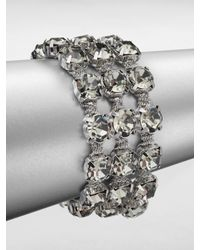 ABS By Allen Schwartz | Metallic Faceted Multi-row Bracelet | Lyst