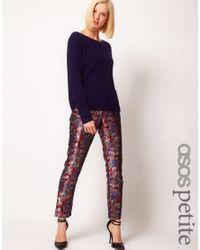 ASOS Multicolor Pants in Oriental Jacquard