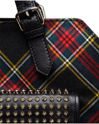 Christian Louboutin Metallic Syd Spiked Leather and Tartan Backpack for men