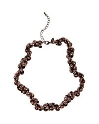 Coast - Brown Rose Necklace - Lyst